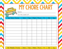 Age Appropriate Chores For Kids With Free Printable Chore Chart