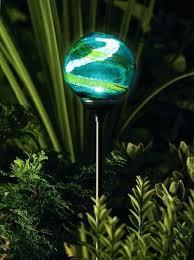 solar garden globe lights powered light large globes mosaic glow in the dark