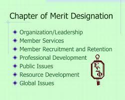 Merit Designation Ppt Esp Chapter Leadership Orientation Powerpoint