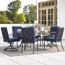 grand resort fairfax 7pc dining set blue limited availability outdoor living patio furniture dining sets