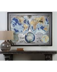uttermost mirrored world map wall art on uttermost large wall art with tis the season for savings on uttermost mirrored world map wall art