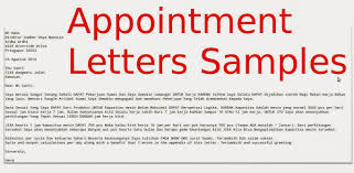 Sample Business Letters Format Appointment Letters Samples Samples Business Letters With Job