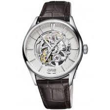 skeleton watches houseofwatches co uk oris mens artelier automatic skeleton strap watch 734 7721 4051 07ls