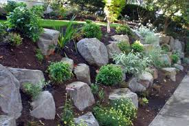 Small Picture Hillside landscaping w boulders mulch Backyard Design