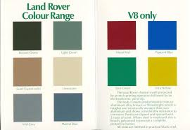 Land Rover Discovery 4 Colour Chart Classic Colours For Landrovers Google Search Land Rover