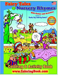 big book of fairy tales nursery rhymes giant super jumbo coloring book 18 x 24 coloringbook really big coloring books 9780976318668 amazon