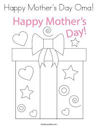 Includes 9 free printable mother's day coloring sheets. Happy Mother S Day Oma Coloring Page Twisty Noodle