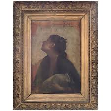 19th century oil painting on wood panel by tony robert fleury for
