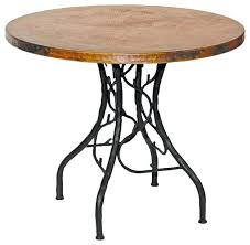 full image for diy round copper table top tables ohio south fork bistro with traditional side