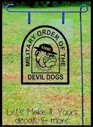united states marine corp order of the devil dogs homemade garden flag yard sign handmade