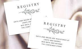 Wedding Registry Templates Card Template Gift Companiesuk Co