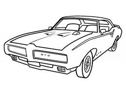Small Picture A Classic Pontiac Muscle Car Coloring Sheet For Kids