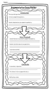 argumentative writing special education teaching resources   argumentative essay map for special education students argumentative
