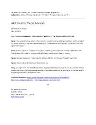 Media Advisory Media Advisory Sample