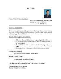 Prasanth Resume Btecheee Magnificent Resume B Tech