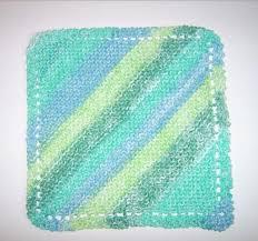 Knit Dishcloth Pattern Mesmerizing Diagonal Knit Dishcloth Pattern AllFreeKnitting
