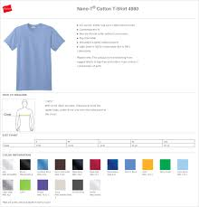 Hanes Nano Tee Size Chart Hanes Cotton T Shirt Size Chart Dreamworks