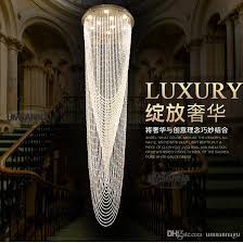 led modern chandeliers big long round crystal chandelier lighting fixture hotel home indoor lighting crystal hanging lamp ac90v 260v hanging chandelier