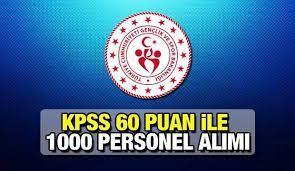 Bakanlık KPSS 60 puan ile 1000 sözleşmeli personel alımı devam ediyor! -  MEMUR Haberleri