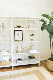 wall shelves for office. caitlinu0027s home office tour wall shelves for r
