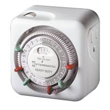 intermatic 15 amp indoor plug in dial timer for holiday lights and decorations grounded tn311 the home depot