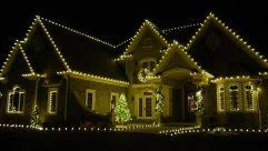 easy outside christmas lighting ideas. Interesting Lighting Outdoor Lighting How To Hang Christmas Lights On Gutters Best Way  Intended Easy Outside Lighting Ideas