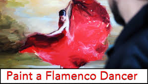 how to paint a flamenco dancer fine art tutorial in sd painting you