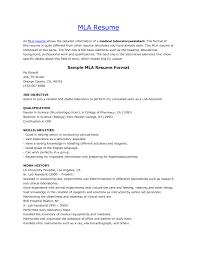 Mla Resume Format resume mla format Ninjaturtletechrepairsco 1