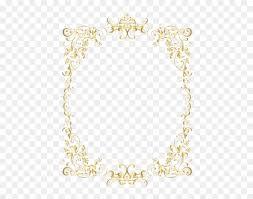 gold retro decorative frame transpa