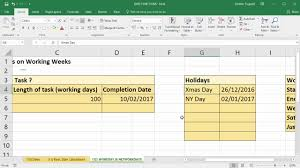 Use Excel To Add Days To Date Excluding Weekends And Holidays