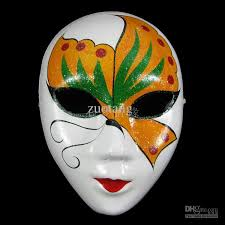 Decorating A Mask Venetian Masquerade Masks White Chinese Paper Mache Women Decorate 14