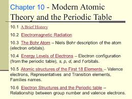 Modern Atomic Theory and the Periodic Table Chapter ppt video ...