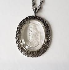 avon glass intaglio of a victorian lady