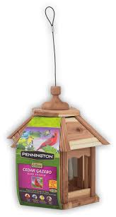 pennington cedar gazebo bird feeder