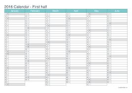 Year To Year Calendar 2016 Printable Calendar Pdf Or Excel Icalendars Net