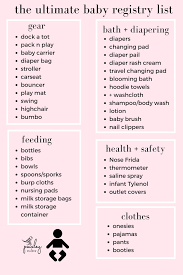 Baby Check List Baby Registry Checklist With A Free Printable Paisley