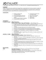 Best Office Technician Resume Example Livecareer