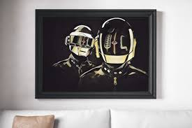 Daft Punk Poster Canvas Print Music Poster Wall Art Poster