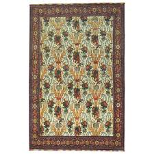 antique persian senneh rug with silk highlights and fringes for
