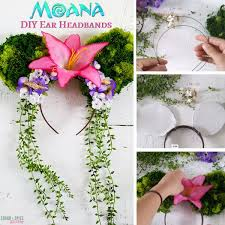materials for diy moana ear headbands