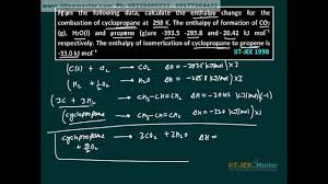 iit jee chemistry problems chemical thermodynamics class  iit jee chemistry problems chemical thermodynamics class 11