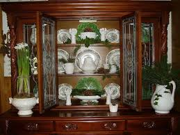 Image of: Decor antique china cabinet