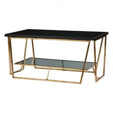 uttermost 24784 agnes black granite coffee table 24
