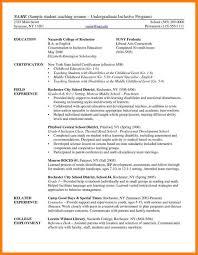 10 Undergraduate Student Cv Sample Xavierax