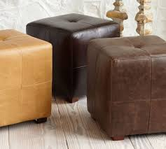 leather cube ottoman. Simple Ottoman With Leather Cube Ottoman