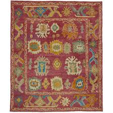 contemporary turkish oushak with large scale geometric print and modern style for