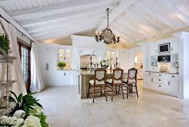 pitched ceiling kitchen mediterranean with cathedral ceiling traditional  hanging pot racks