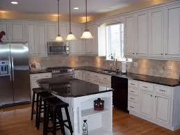 Unique Painting Oak Kitchen Cabinets White Painted Intended Decorating Ideas