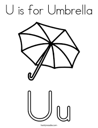 Photo umbrellas are a portable and inexpensive option for modifying a light source to a desired result. U Is For Umbrella Coloring Page Twisty Noodle