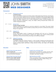 Free Professional Resume Templates 2012 Resume Format Doc For Graphic Designer Therpgmovie 5